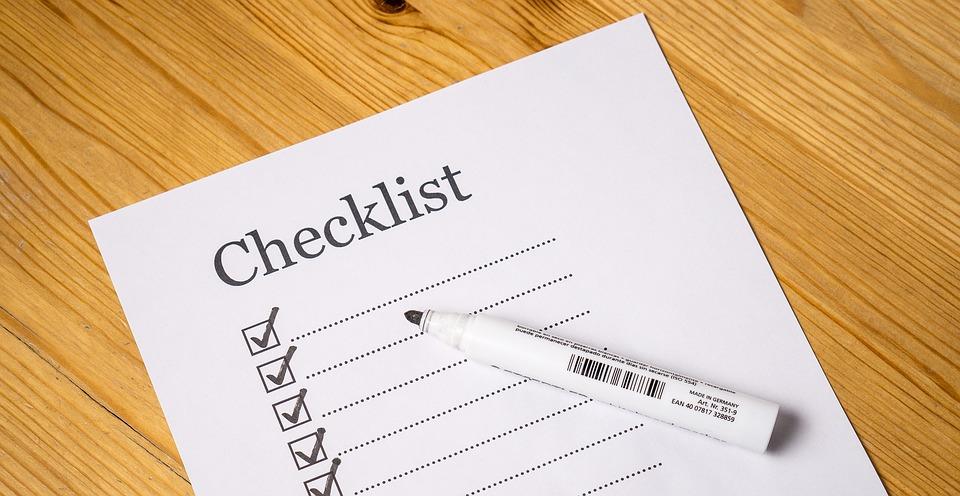 checklist画像